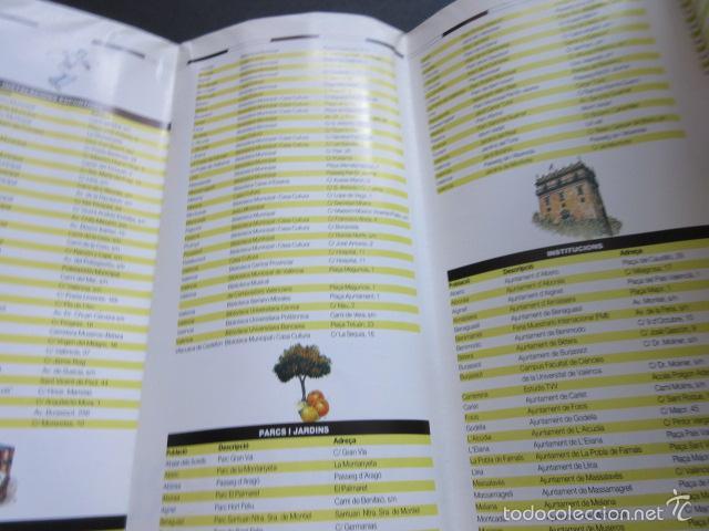 Coleccionismo Billetes de transporte: FERROCARILES GENERALITAT VALENCIA PLANOS RUTAS EN FERROCARRIL - Foto 3 - 56310195