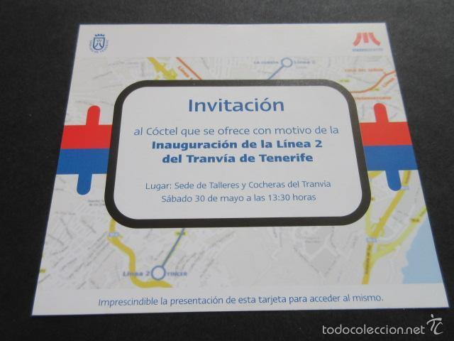 Invitacion Inauguracion Linea 2 Tranvia Tenerife