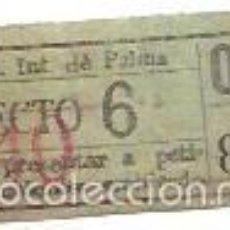 Coleccionismo Billetes de transporte: BILLETE DE TRANVIA ELÉCTRICO DE PALMA. TRAYECTO 6. 40 CENTIMOS.. Lote 56611251