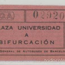 Coleccionismo Billetes de transporte: BILLETE DE AUTOBUSES C.G.A. // BARCELONA // 65 CTS // RAREZA R. Lote 56621026