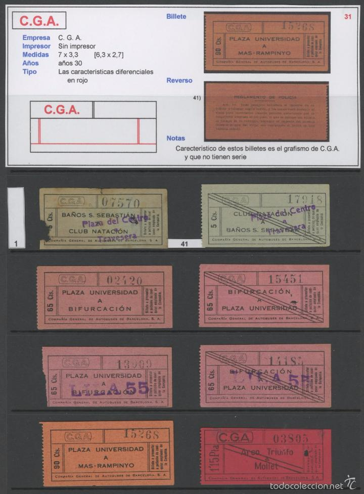 Coleccionismo Billetes de transporte: BILLETE DE AUTOBUSES C.G.A. // BARCELONA // 65 CTS // Rareza R - Foto 2 - 56621026