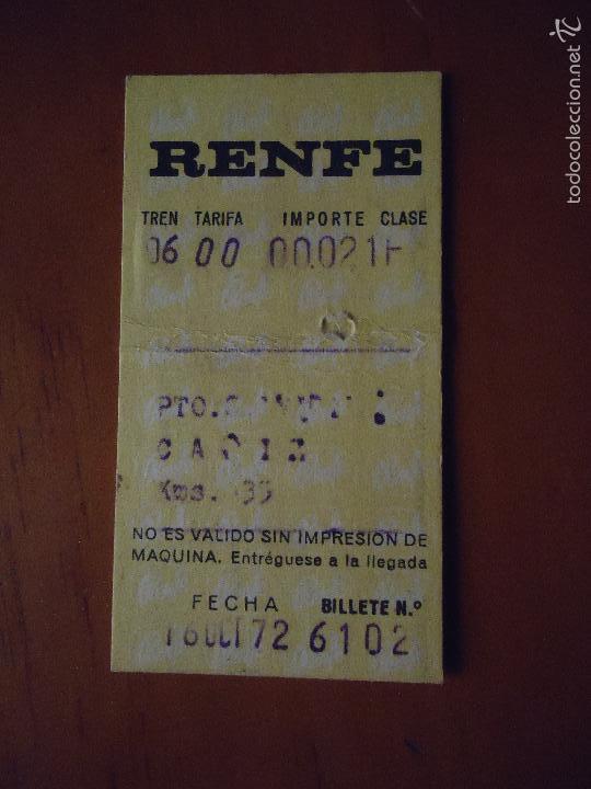 BILLETE ANTIGUO RENFE 1972 (Coleccionismo - Billetes de Transporte)