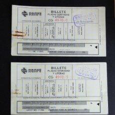 Coleccionismo Billetes de transporte: TRIO DE BILLETES RENFE CONSECUTIDOS MADRID-GANDIA 1983. Lote 57387982