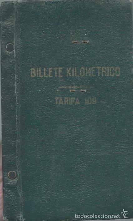 BILLETE KILOMÉTRICO - TARIFA 109 - 2ª CLASE SERIE 1 - 3000 KILOMETROS DEL 8 - 7 -1946 (Coleccionismo - Billetes de Transporte)
