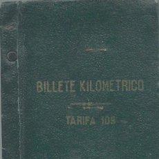 Coleccionismo Billetes de transporte: BILLETE KILOMÉTRICO - TARIFA 109 - 2ª CLASE SERIE 1 - 3000 KILOMETROS DEL 8 - 7 -1946. Lote 57712840