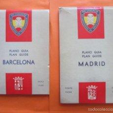 Coleccionismo Billetes de transporte: PLANOS PARA EL XVII CONGRESO INTERNACIONAL FERROCARRILES 1958 - MADRID BARCELONA TRANVIA METRO TROLE. Lote 57735614