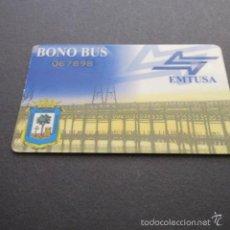 Coleccionismo Billetes de transporte: TARJETA PLASTICO BONO BUS EMPRESA EMTUSA HUELVA . Lote 57753768