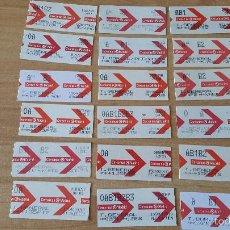 Coleccionismo Billetes de transporte: LOTE 18 BILLETES RENFE - CERCANÍAS DE MADRID (VER IMÁGENES ADICIONALES) FINAL AÑOS 90`S PRINCIP 00`S. Lote 57845870