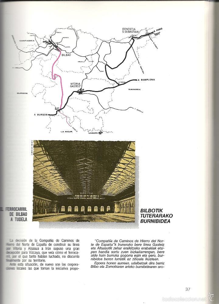 Coleccionismo Billetes de transporte: Patrimonio Ferroviario en Euzkadi.Año 1990.Buena conservacion.Español y euskera - Foto 2 - 57903403