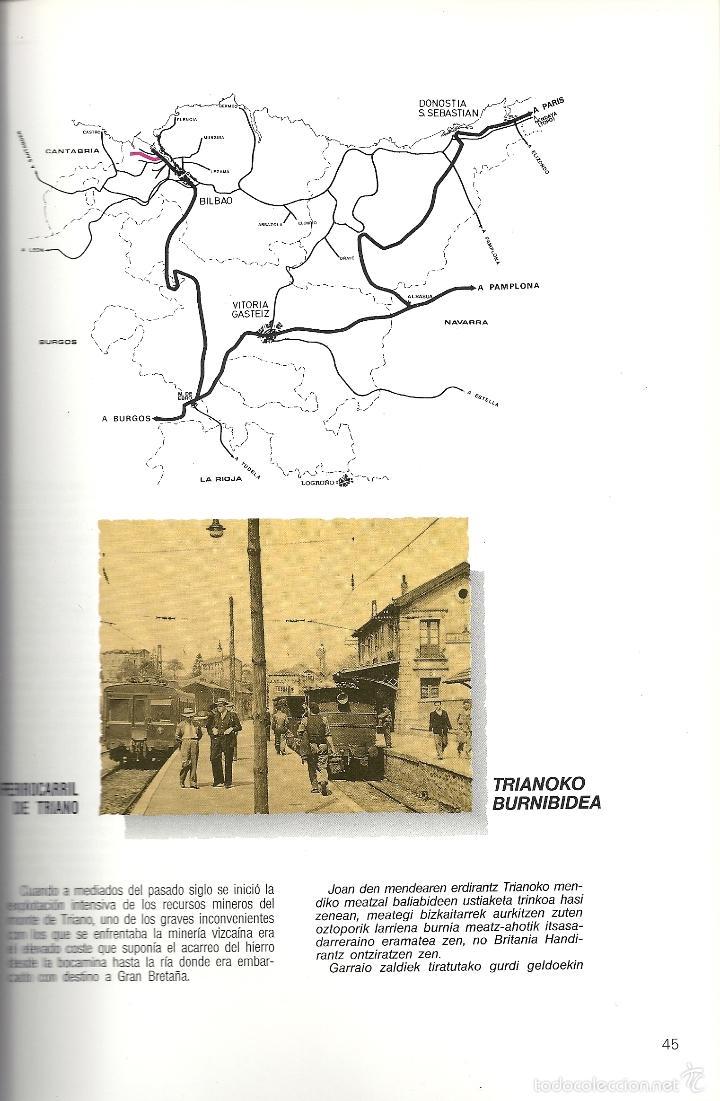 Coleccionismo Billetes de transporte: Patrimonio Ferroviario en Euzkadi.Año 1990.Buena conservacion.Español y euskera - Foto 3 - 57903403