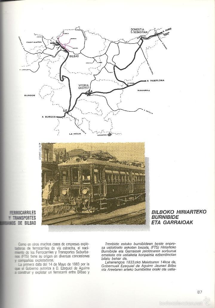 Coleccionismo Billetes de transporte: Patrimonio Ferroviario en Euzkadi.Año 1990.Buena conservacion.Español y euskera - Foto 5 - 57903403