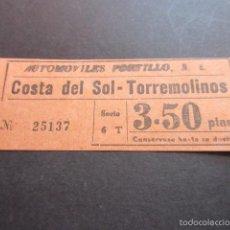 Coleccionismo Billetes de transporte: BILLETE EMPRESA AUTOMOVILES PORTILLO COSTA DEL SOL TORREMOLINOS MALAGA. Lote 57938781