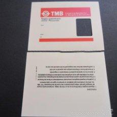 Coleccionismo Billetes de transporte: TARJETA PASE IDENTIFICACION JUBILADO PENSIONISTA - SIN USAR - TMB. Lote 58098091