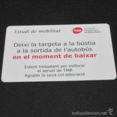 Coleccionismo Billetes de transporte: TARJETA ESTUDIO DE MOBILIDAD . Lote 58098220