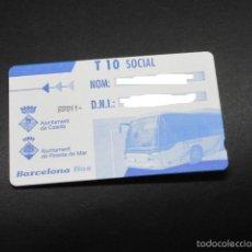 Coleccionismo Billetes de transporte: TARJETA T-10 SOCIAL PINEDA DE MAR. Lote 142660024