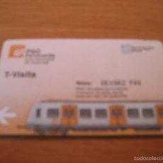 Coleccionismo Billetes de transporte: FGC (FERROCARRILS GENERALITAT CATALUNYA) - T VISITA - AREA DE BARCELONA - A T M .... Lote 58261694