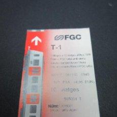 Coleccionismo Billetes de transporte: TARJETA FERROCARRILES GENERALITAT TARJETA T-1 . Lote 58265308