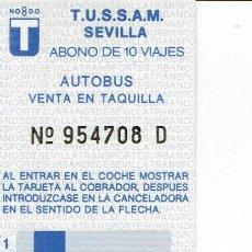 Coleccionismo Billetes de transporte: BONOBUS SEVILLA NUEVO, SIN USO.. Lote 58390112