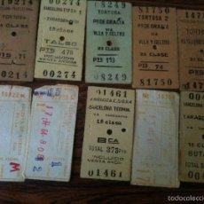 Coleccionismo Billetes de transporte: 10 BILLETES TREN ANTIGUOS AÑOS 60. Lote 58667461