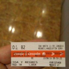 Coleccionismo Billetes de transporte: BILLETE RENFE CERCANIAS - MADRID. Lote 58756436