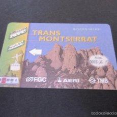 Coleccionismo Billetes de transporte: TARJETA MONSERRAT FERROCARRILES GENERALITAT. Lote 58792976