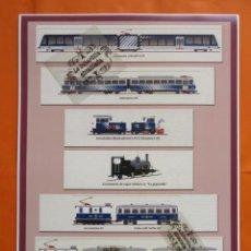 Coleccionismo Billetes de transporte: CARTEL - EL CREMALLERA FUNICULAR DE NURIA MATERIAL RODANTE. Lote 59535659