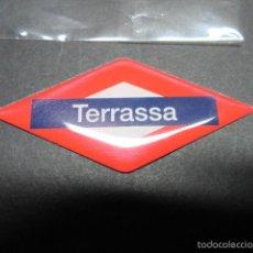 Coleccionismo Billetes de transporte: ROMBO NOMBRE EN IMAN NUEVA ESTACION TERRASSA FERROCARRILES GENERALITAT. Lote 60637455
