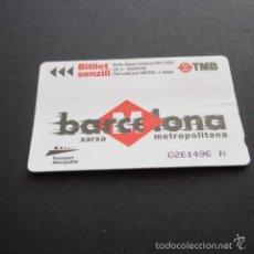 Coleccionismo Billetes de transporte: TARJETA BILLETE SENCILLO - EL DISEÑO COTIDIANO - LOGO TRANSPORT METROPOLITA . Lote 60871075