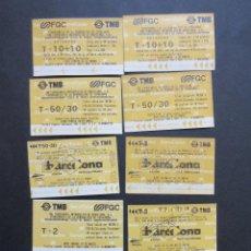 Coleccionismo Billetes de transporte: LOTE DE 10 TARJETAS DIFERENTES AMARILLAS LA CAIXA . Lote 61685432