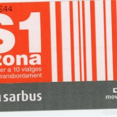 Coleccionismo Billetes de transporte: BILLETE SARBUS ( BARCELONA) . Lote 61700608