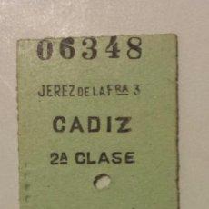 Coleccionismo Billetes de transporte: BILLETE EDMUNSON. JEREZ DE LA FRONTERA - CADIZ. Lote 61861312