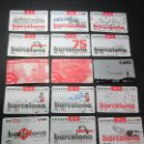 Coleccionismo Billetes de transporte: LOTE 17 TARJETAS DIFERENTES TRANSPORTES DE BARCELONA. Lote 62391780