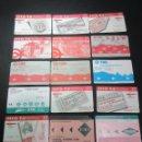 Coleccionismo Billetes de transporte: LOTE 16 TARJETAS DIFERENTES TRANSPORTES DE BARCELONA Y ANTIGUAS T ROSAS. Lote 62391964