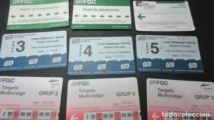 Coleccionismo Billetes de transporte: LOTE 16 TARJETAS DIFERENTES FERROCARRILES GENERALITAT ANTIGUAS - Foto 2 - 62392036