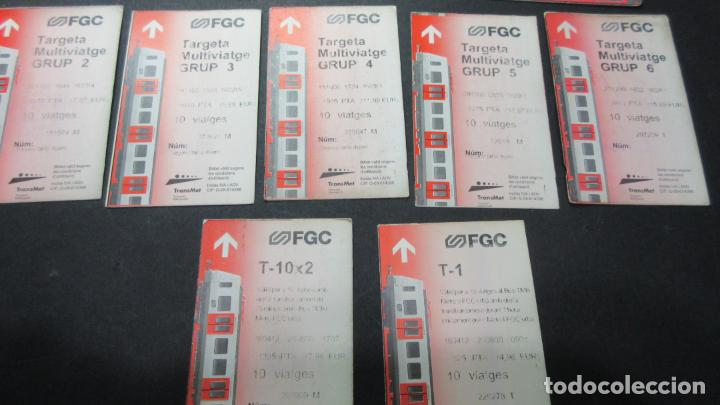 Coleccionismo Billetes de transporte: LOTE 16 TARJETAS DIFERENTES FERROCARRILES GENERALITAT ANTIGUAS - Foto 3 - 62392036