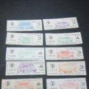 Coleccionismo Billetes de transporte: LOTE 13 BILLETES DIFERENTES PRIMER Y ULTIMA DIA TRANVIAS DE BARCELONA Y AUTOBUS. Lote 113540306