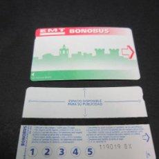 Coleccionismo Billetes de transporte: TARJETA EMT AUTOBUSES DE VALENCIA TRASERA 1. Lote 64128687