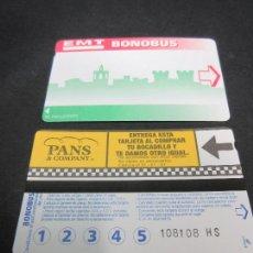 Coleccionismo Billetes de transporte: TARJETA EMT AUTOBUSES VALENCIA TRASERA 2. Lote 196538366