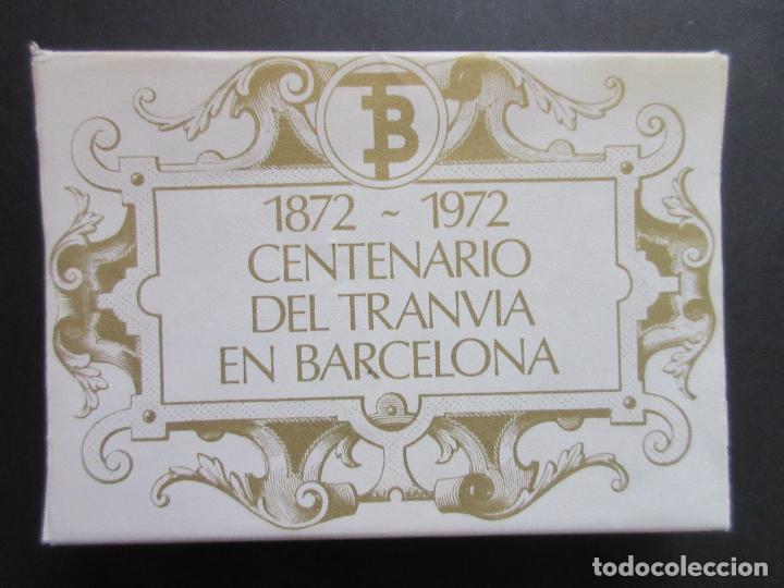 COLECCION COMPLETA 56 POSTALES EDITADAS 1972 CENTENARIO DEL TRANVIA DE BARCELONA VEHICULOS HISTOR (Coleccionismo - Billetes de Transporte)