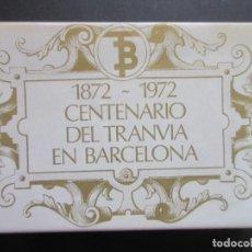 Coleccionismo Billetes de transporte: COLECCION COMPLETA 56 POSTALES EDITADAS 1972 CENTENARIO DEL TRANVIA DE BARCELONA VEHICULOS HISTOR. Lote 64765695