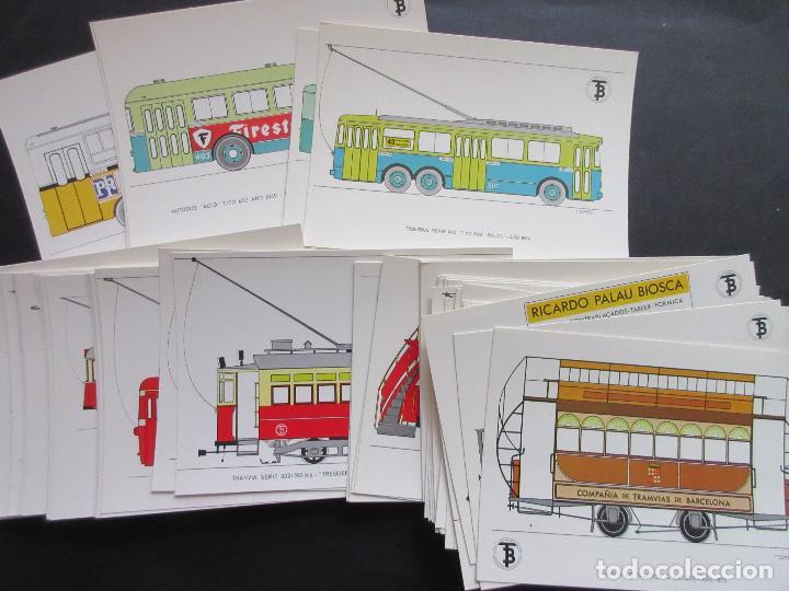 Coleccionismo Billetes de transporte: COLECCION COMPLETA 56 POSTALES EDITADAS 1972 CENTENARIO DEL TRANVIA DE BARCELONA VEHICULOS HISTOR - Foto 3 - 64765695