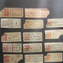 Coleccionismo Billetes de transporte: LOTE 17 ANTIGUOS BILLETES EMPRESA TRANVIAS DE VALENCIA - CAPICUA CAPICUAS. Lote 64766487
