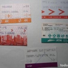 Coleccionismo Billetes de transporte: LOTE BILLETES FERROCARRIL. Lote 67763169
