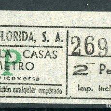 Coleccionismo Billetes de transporte: BILLETE DE AUTOS FLORIDA, S.A. // HOSPITALET DEL LLOBREGAT. Lote 68383761