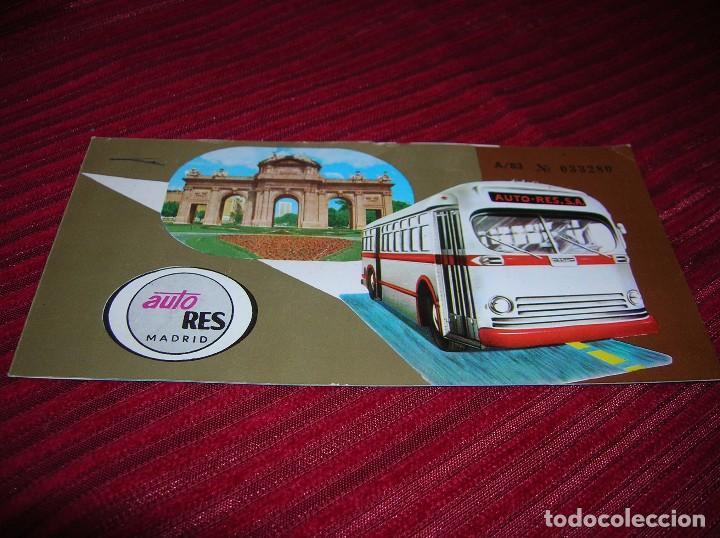 ANTIGUO BILLETE DE AUTO RES.MADRID. (Coleccionismo - Billetes de Transporte)