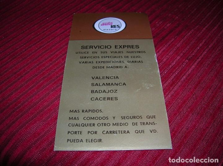 Coleccionismo Billetes de transporte: Antiguo billete de Auto Res.Madrid. - Foto 2 - 68382677