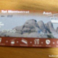 Coleccionismo Billetes de transporte: F G C - TOT MONTSERRAT - AERI - MONTSERRAT - TARJETA Nº - - - -. Lote 73681151