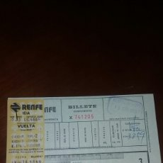 Coleccionismo Billetes de transporte: BILLETE DE TREN RENFE 1978. Lote 71188538