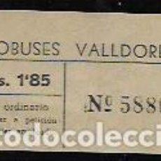 Coleccionismo Billetes de transporte: AUTOBUSES VALLDOREIX - BILLETE ORDINARIO . 1,85 PESETAS. Lote 71410035