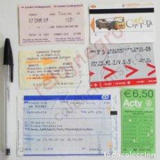 Coleccionismo Billetes de transporte: LOTE BILLETES DE TRANSPORTE - TREN METRO BARCO AUTOBÚS - BILLETE LONDRES VENECIA ESPAÑA PRAGA EUROPA. Lote 71627387